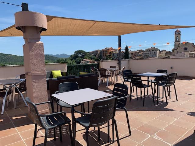 terrassa Hostal Tarrés