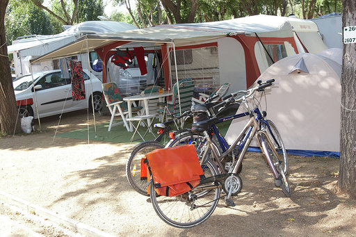 Bicicletes al Càmping Valldaro