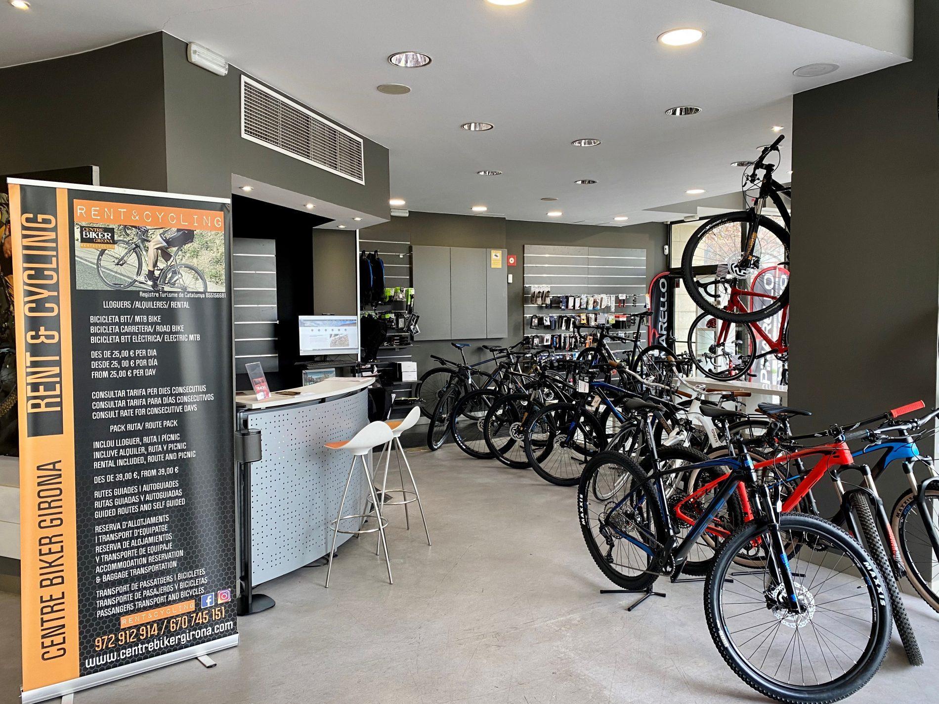 imatge de l'interior de la botiga centre biker