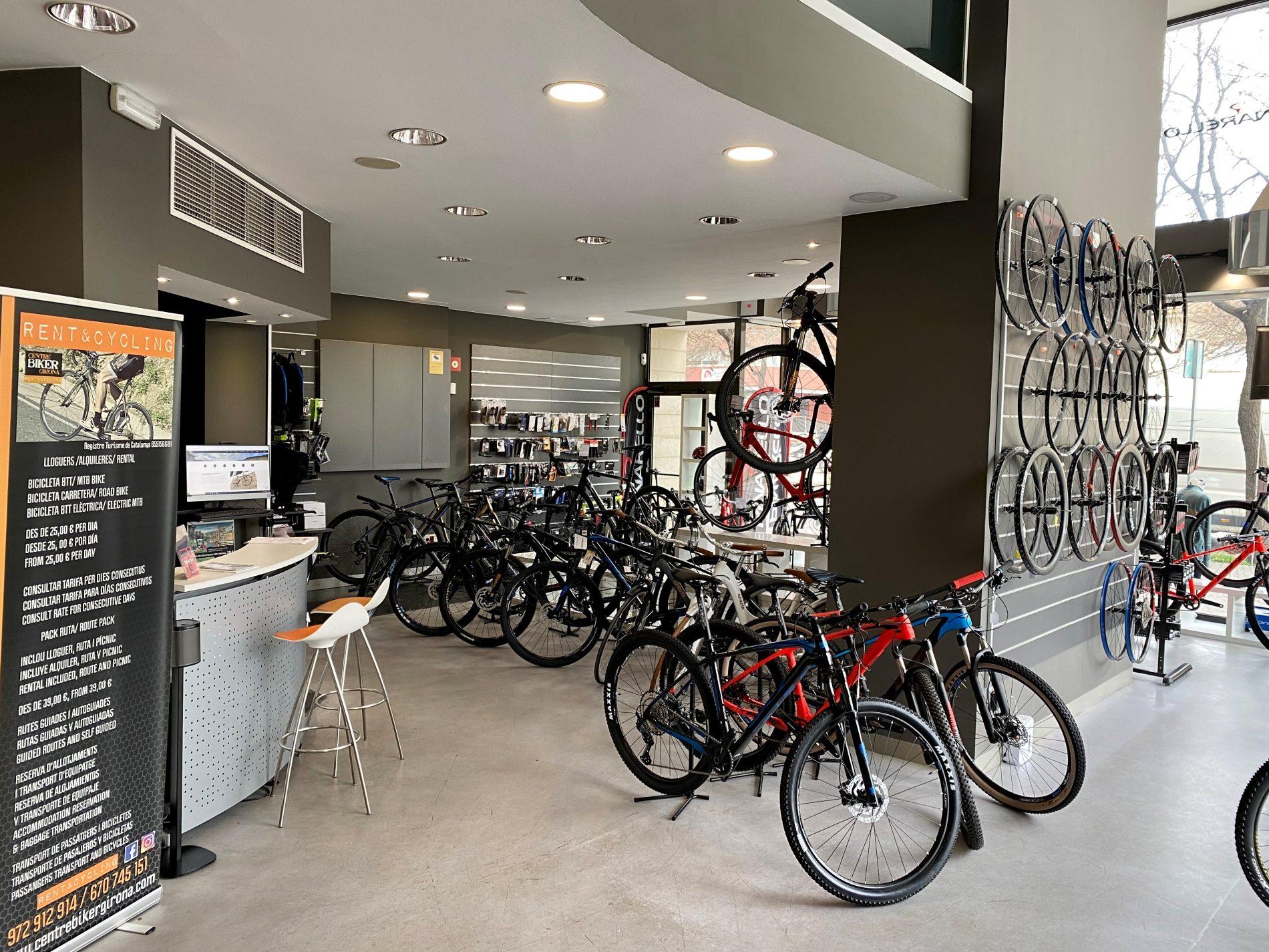 imatge de les bicis de la botiga del centre Biker