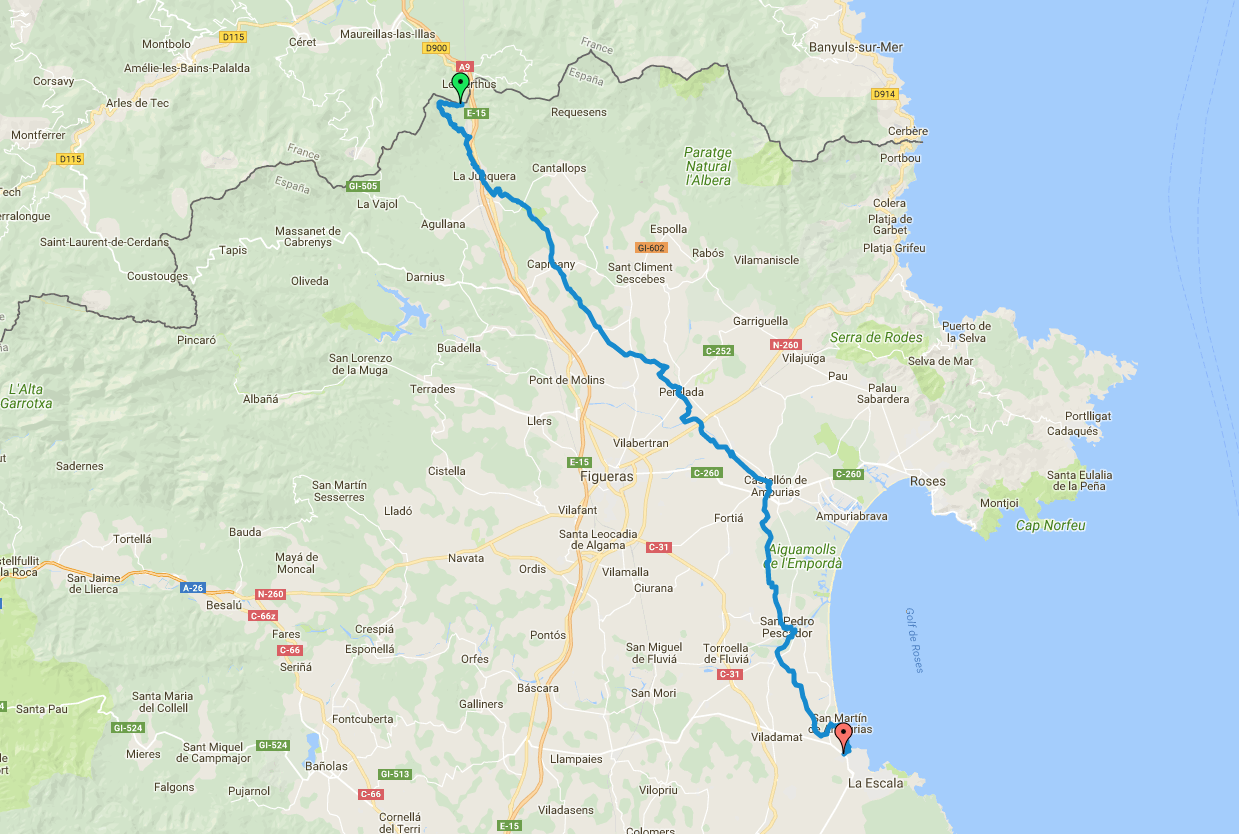 Alt Empordà Route map