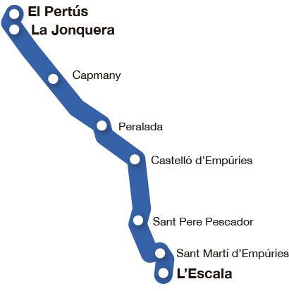 Mapa pobles Ruta Alt Empordà