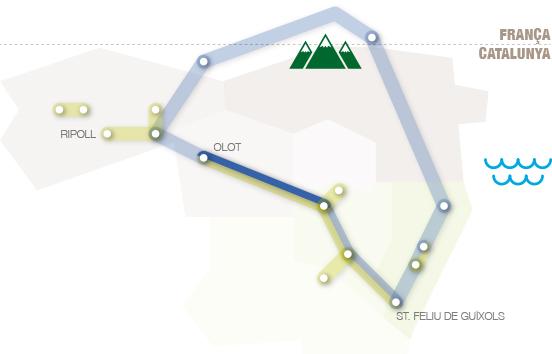 Carte géographique de Route du Petit Train I