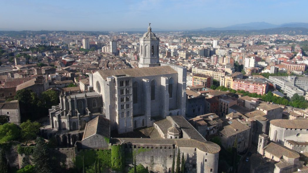 Aerial view of Girona