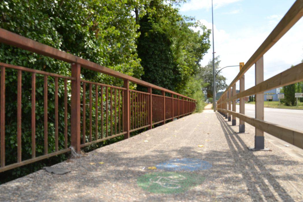 tramo de la ruta Girona - Sarrià de Ter en el tramo urbano