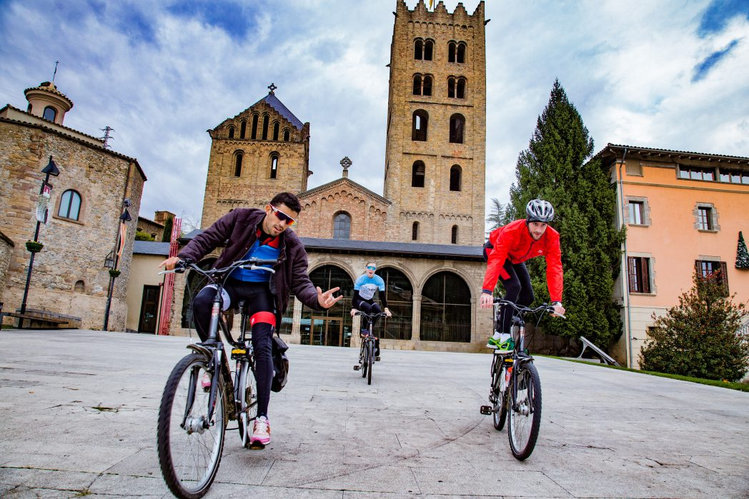 Cyclists in Olot