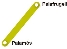 Mapa pueblos Ruta del Tren Petit
