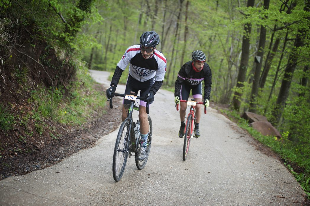 Cyclists in Sant Joan de les Abadesses