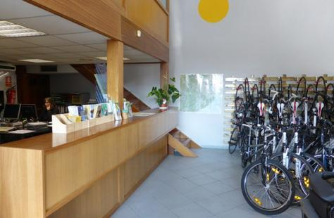 Counter of the Cicloturisme.com shop