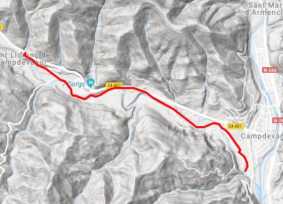 mapa ruta Camino de Trashumancia