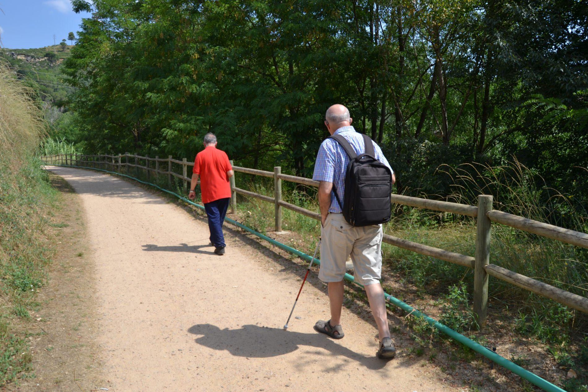 ruta accessible per a persones cegues i amb baixa visió a Girona