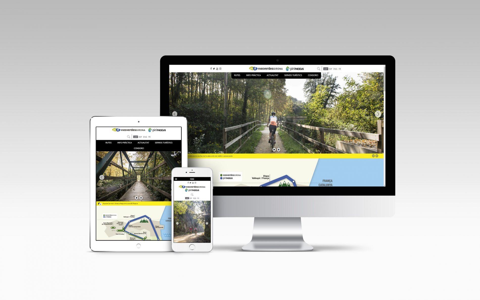 Nouveau site web pour toute sorte de dispositifs et d'écrans