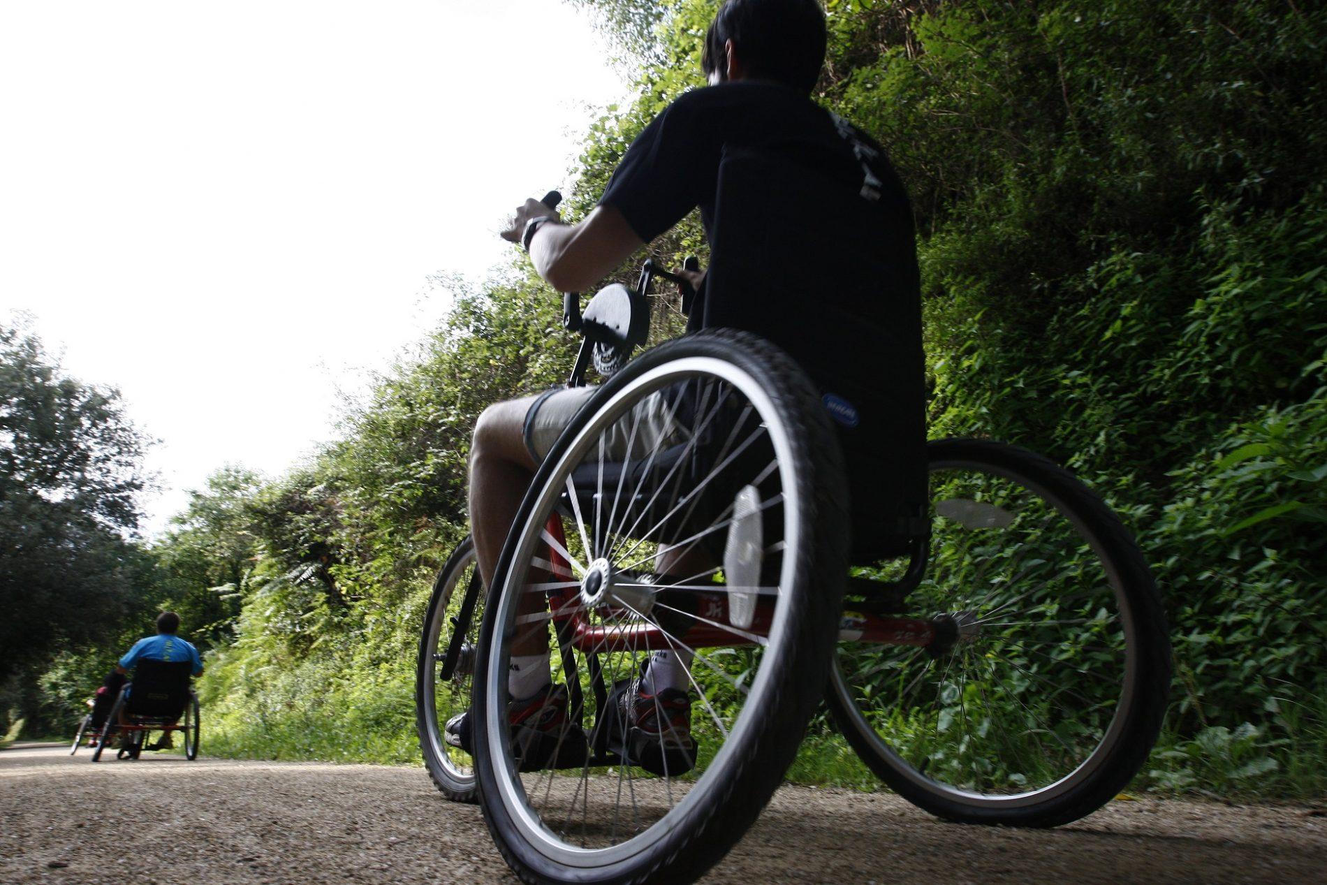 Bicicleta adaptada handbike