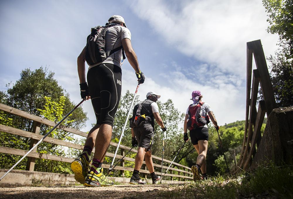 equipo de la prueba Trailwalker en Girona