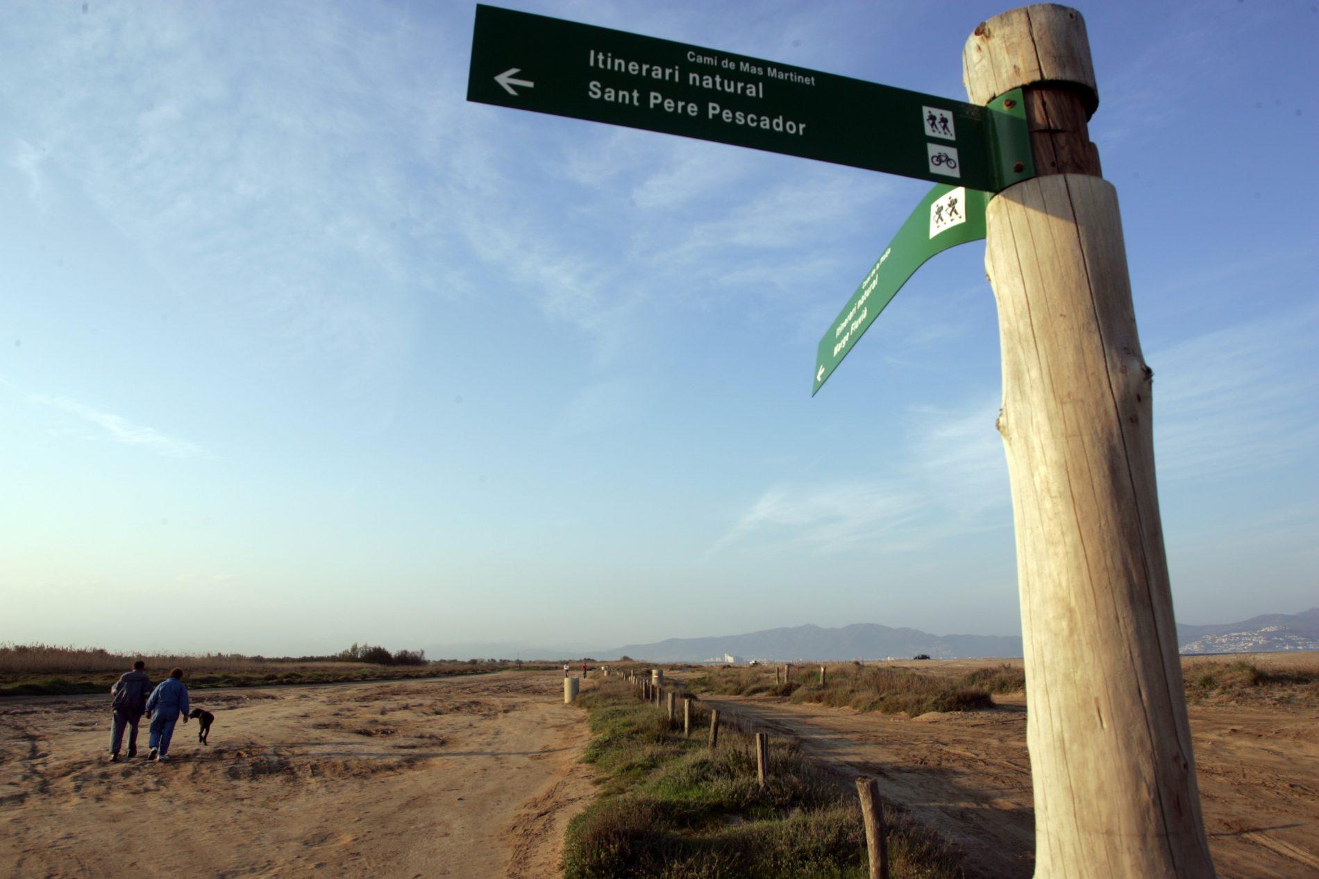 Señal itinerario ciclable Sant Pere Pescador