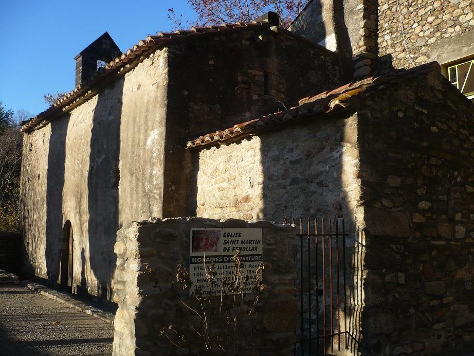 Fachada de la iglesia de San Martín de Fenollar