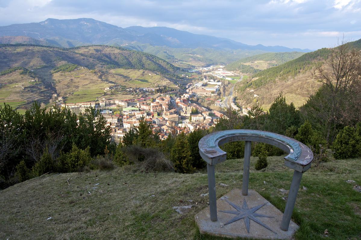 Viewpoint of the Pla de la Bandera Ripoll