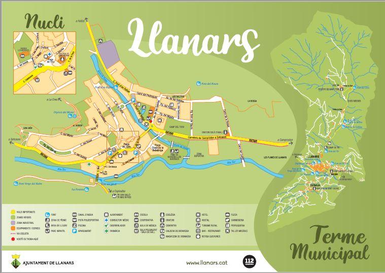 mapa del nucli de Llanars