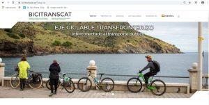 portada web Bicitranscat con bicis ESPAÑOL