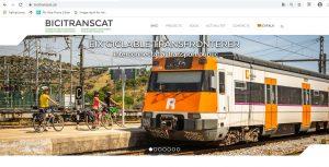 portada web Bicitranscat - tren