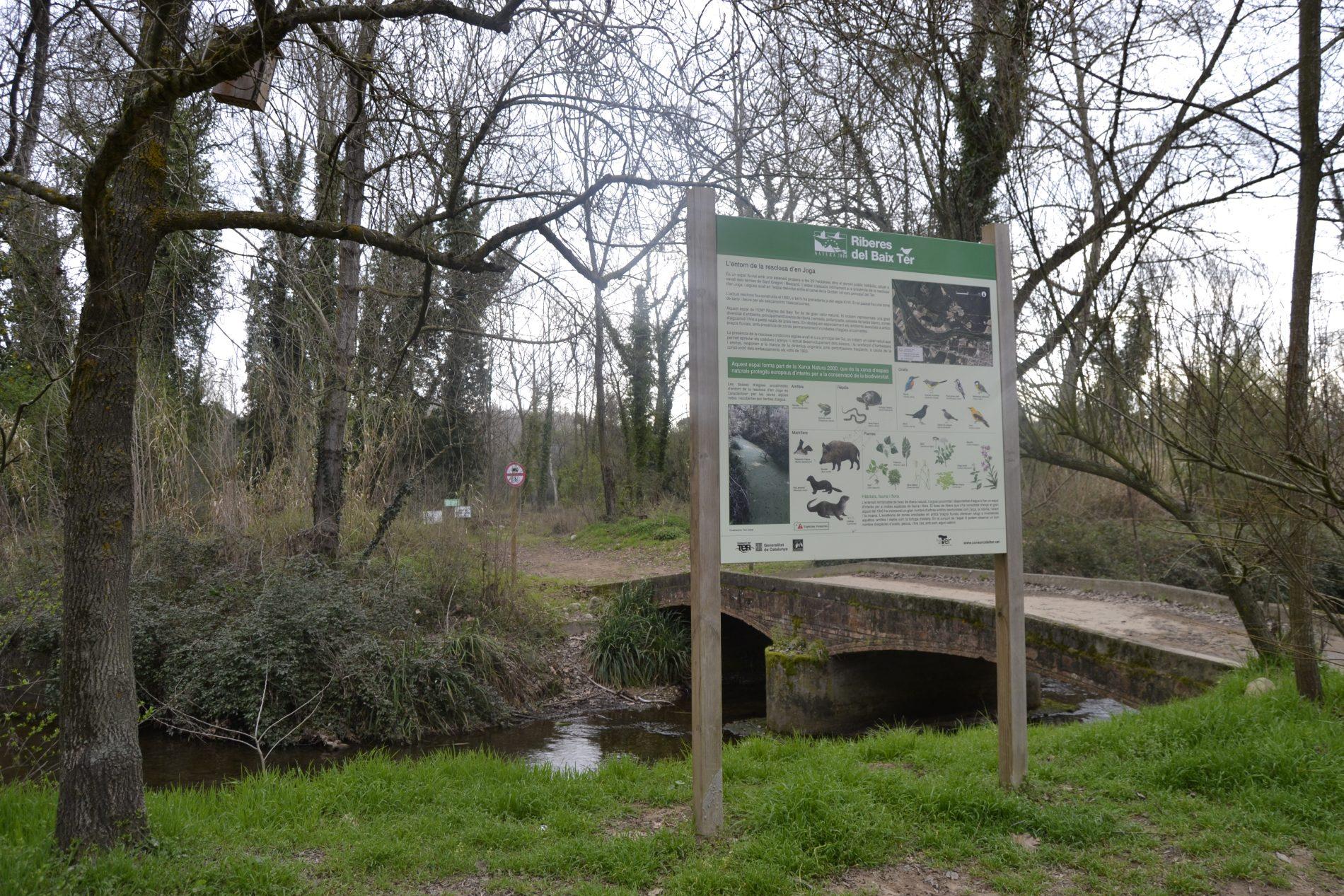 cartell informatiu de la flora i fauna de les riberes del Ter - Bescanó