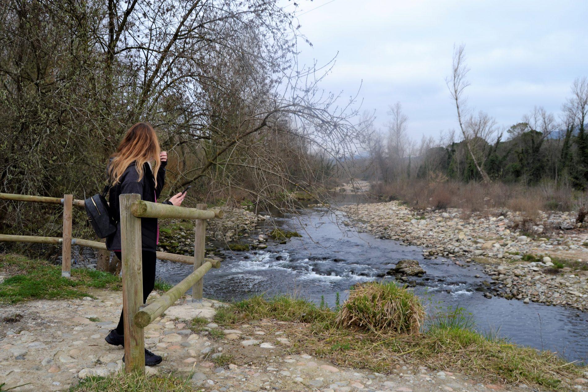 mirador a la riba del Ter a Bescanó