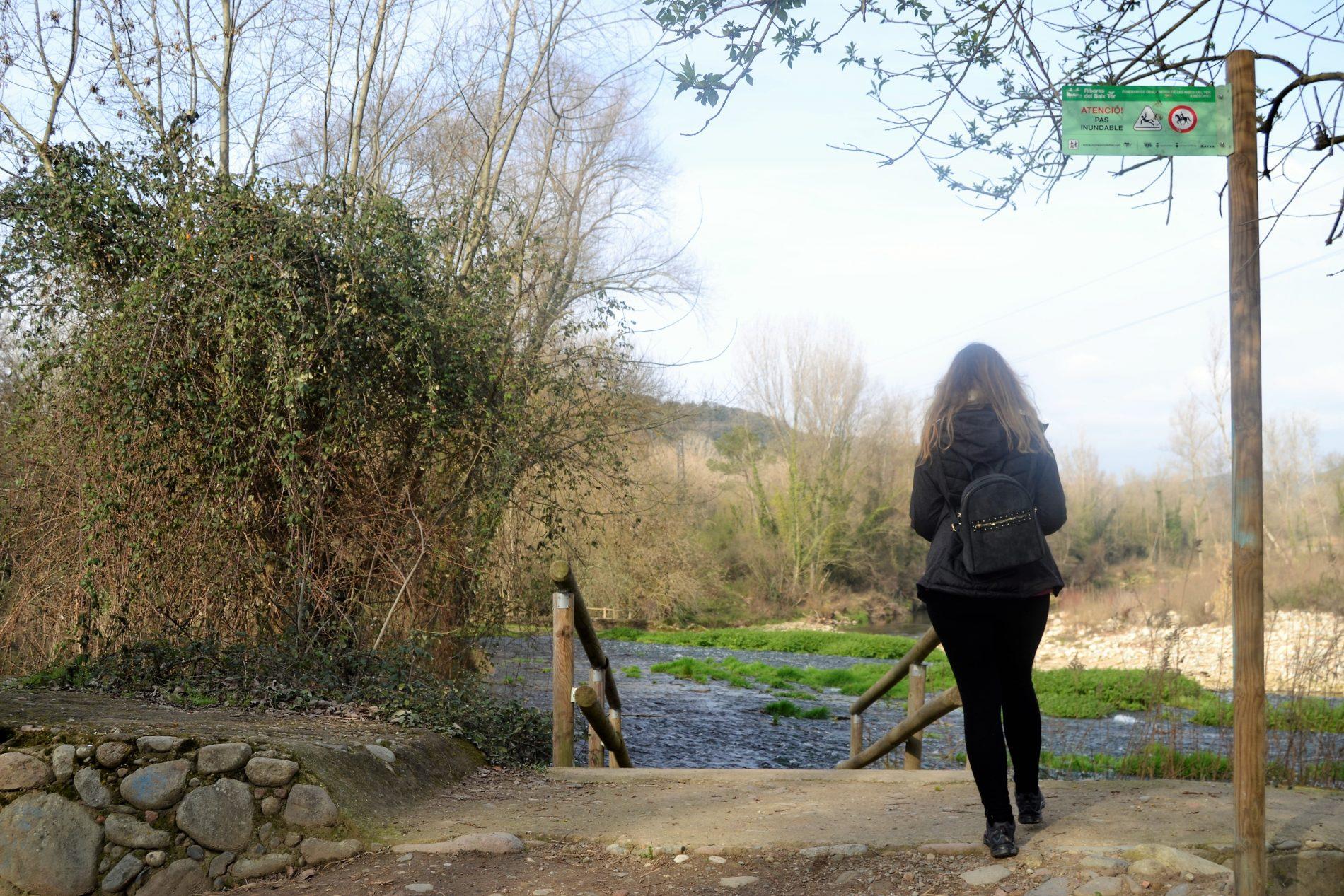 pas inundable a les ribes del Ter a Bescanó