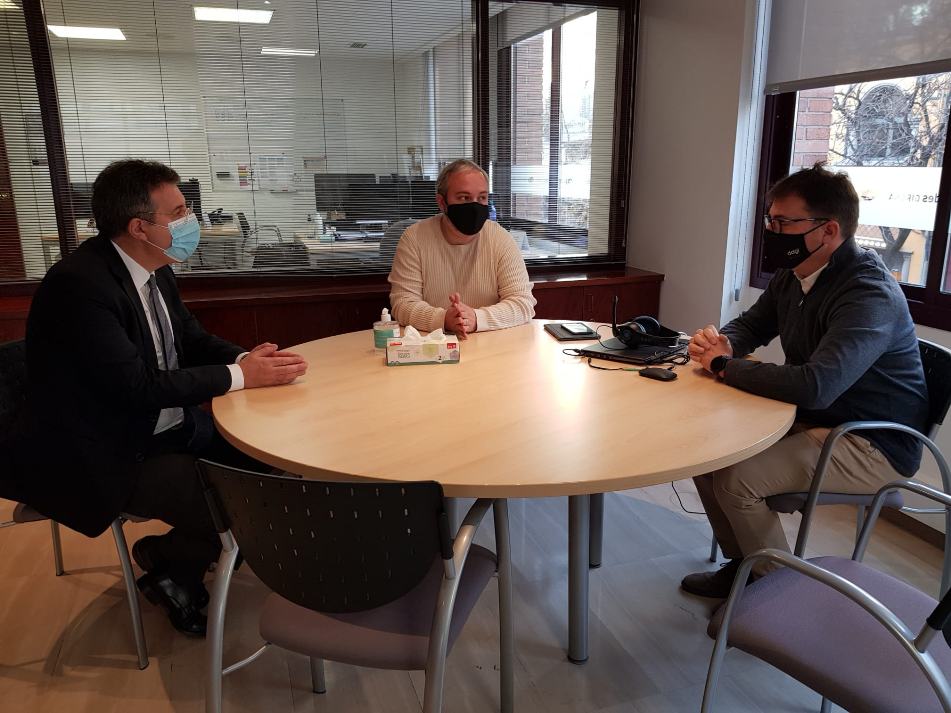 visita del president de la Diputació a les oficines del Consorci