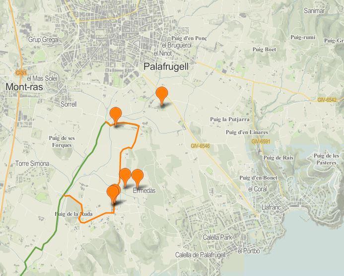 Mapa secret Palafrugell