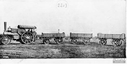 Reproducció d'una vista general del tren Renard de l'Anònima de Transports